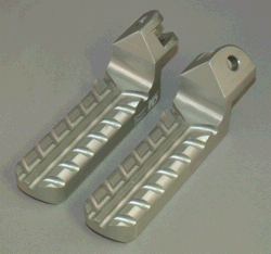 Lowered Motorcycle Foot Pegs, Silver Anodized