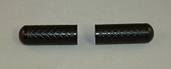 Toe Pegs for Foot Levers, in Black with Grid engraved grip